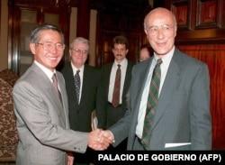 Доктор Джозеф Най в урядовому палаці в Лімі, Перу