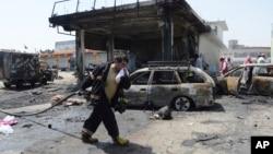 Pamje të sulmit në Jalalabad më 10 korrik.