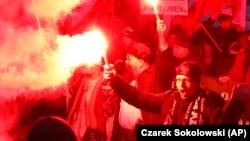 Марш националистов в Варшаве 11 ноября 2017 года