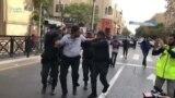 Milli Şuranın aksiyasına gələnləri polis saxlayır