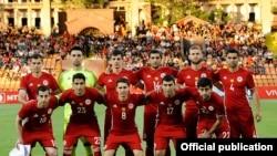 Сборная Армении по футболу (архивная фотография)