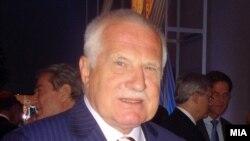 Претседателот на Чешка Вацлав Клаус