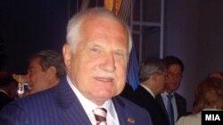 Чешкиот претседател Вацлав Клаус