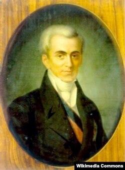 Іоанн Каподистрія (1776–1831) – дипломат російської служби, перший президент Греції
