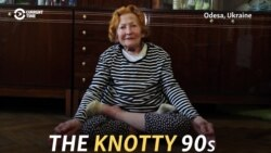 The Knotty 90s: Limber Ukrainian Pensioner Loves The Lotus Position