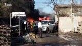 В Бишкеке на складе произошел пожар