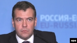 Russian President Dmitry Medvedev urged the EU to back his plans for a new 'security architecture'