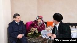 Президент Шавкат Мирзиëев Сурхондарëда фермер чол билан учрашди.