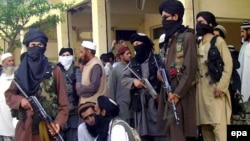 Taliban fighters in Buner on April 24