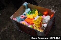 Содержимое посылки для министра труда и социальной защиты. Алматы, 20 февраля 2013 года.