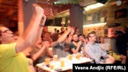 Beograd: Navijanje za reprezentacije Hrvatske i Bosne i Hercegovine