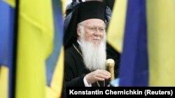 Вселенський патріарх Варфоломій під час відвідин України у 2008 році