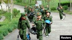 Воспитанники детского сада в Китае.