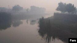 دود ناشی از آتشسوزی در هورالعظیم