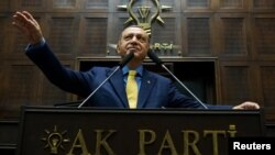 Реджеп Эрдоган выступает в парламенте в Анкаре. 7 июня 2017 года