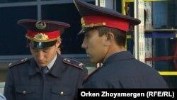 Казахстанские полицейские.
