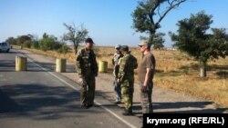 Блокада Крыма вблизи «Чонгара», архивное фото