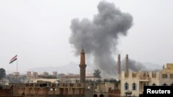 تصویری از حمله در اطراف صنعا پایتخت یمن در ۳۰ اوت