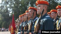 Кыргызстандык жоокерлер.