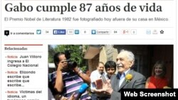 Marquez jurnalistlərlə, 6 mart 2014 (www.milenio.com)