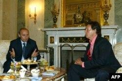 Пол Маккартни встречается с Владимиром Путиным в Кремле, 2003