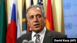 زلمی خلیلزاد مشاور ویژۀ وزیر خارجۀ ایالات متحده برای صلح و آشتی در افغانستان.