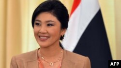 Kryeministrja e Tajlandës, Yingluck Shinawatra.