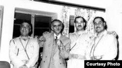الجواهري مع عدد من رجال ثورة تموز 1958