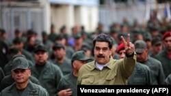 Николас Мадуро на военной базе под Каракасом, 30 января 2019 года.