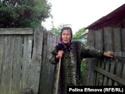 Елена Батальщикова, одна их двух последних жителей хутора
