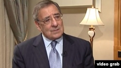 U.S. Defense Secretary Leon Panetta talks to Alhurra.