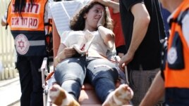 An Israeli wounded during the attack.