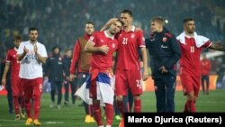 Fudbaleri Srbije slave pobedu protiv Gruzije i plasman na Mundijal, 9. oktobar 2017.