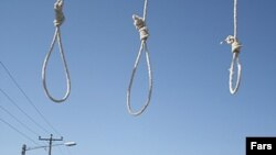 Nooses are prepared ahead of a public hanging in Mashhad, Iran. (file photo)