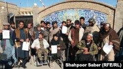 مظاهره معلولان جنگی در ولایت هرات