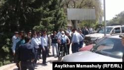 Полицейские в Алматы. 21 мая 2016 года.