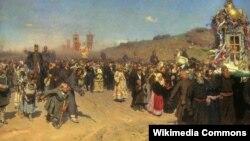 Ilja Repin, «Chresny chod u Kurskaj huberni» (1883)