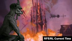 Incendiul de la Notre Dame din seara zilei de 15 aprilie 2019