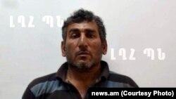 Задержанный, по сообщениям армянских СМИ, в качестве диверсанта гражданин Азербайджана Шахбаз Джалал оглу Гулиев