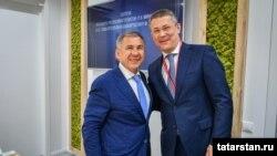 Рөстәм Миңнеханов һәм Радий Хәбиров Петербур халыкара икътисади форумында.