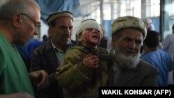 Ребенок, пострадавший при взыве в Кабуле, 27 января 2018 года.