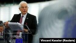 Եվրամիության արտաքին հարաբերությունների գծով բարձր ներկայացուցիչ Ժոզեպ Բորելը ելույթ է ունենում Եվրախորհրդարանում, արխիվ