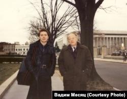 Иосиф Бродский и Вадим Месяц. Вашингтон, 1991 г. Фото: Татьяны Бейлиной