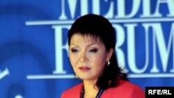 Еуразиялық медиа форумның төрайымы Дариға Назарбаева. Алматы, 27 сәуір 2010 ж.