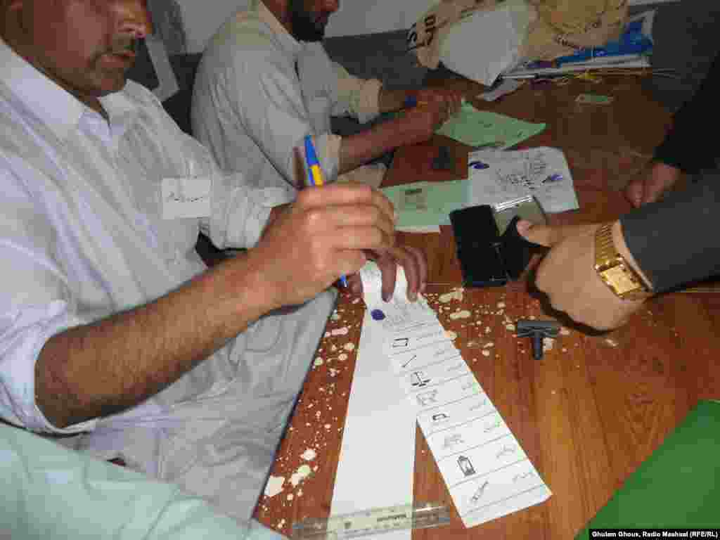 Voting in the Dir district of the northwestern Khyber Pakhtunkhwa Province