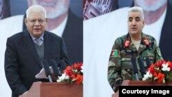 Министр обороны Афганистана генерал Абдулло Хабиби (слева) и начальник штаба ВС Кадамшох Шахим