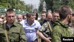 А.Захарченко на протестном митинге жителей Донецка 15 июня 2015 г.