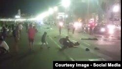 Imagine de pe rețelele de socializare de la locul atentatului