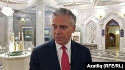 Джон Хантсман в Казанском кремле.