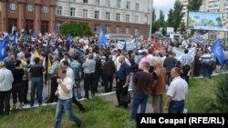 Marşul sindicatelor la Chişinău